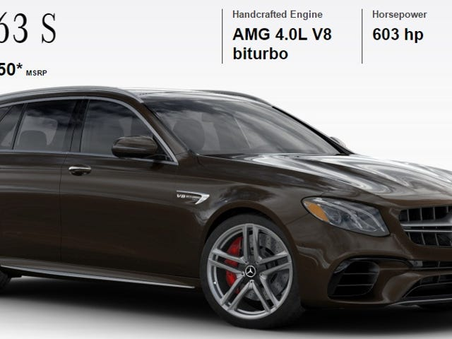 How Would You Configure Your 603 HP Mercedes-AMG E63 S Wagon?