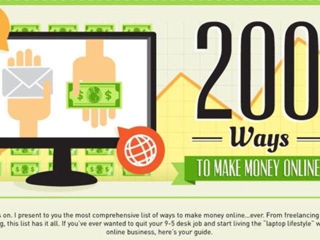 Эта графика содержит более 200 ресурсов для зарабатывания денег в Интернете