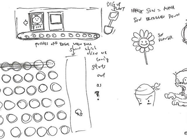 <i>Plants vs Zombies</i> 는 10 살이니까, 그래서 여기 모두가 시작된 곳이 보입니다.