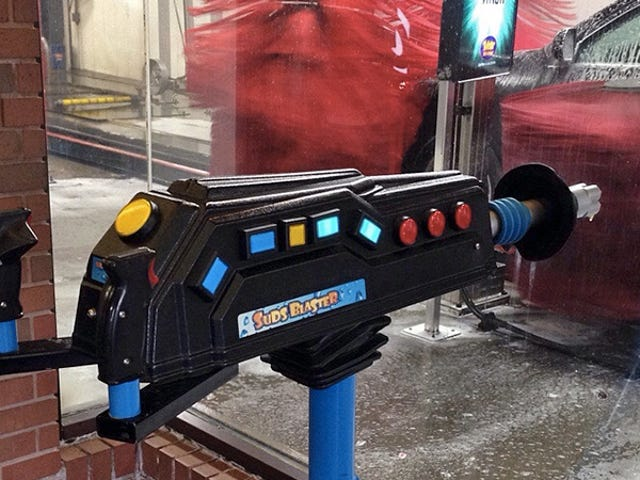A Foamy Soap Blaster That Turns Car Washes Into Shooting Galleries