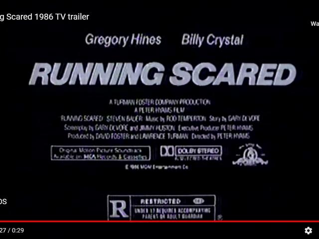 Corriendo asustado (1986)
