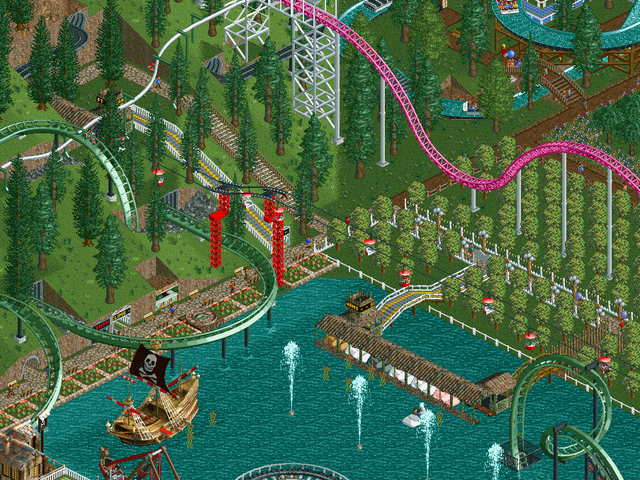 A Classic Christmas Song Interpreted Through  Rollercoaster Tycoon
