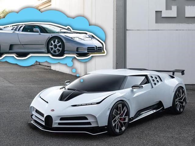 Her er Bugatti EB110-inspirerte Centodieci før du antas å se det