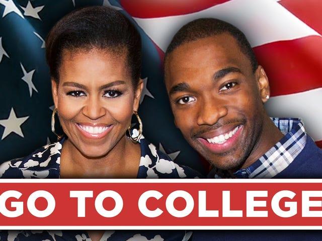 ดู FLOTUS Michelle Obama Rap สำหรับคุณถ้าคุณสัญญาว่าจะไปที่วิทยาลัย