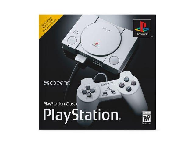 Sony meddelade bara $ 100 PlayStation Classic Console