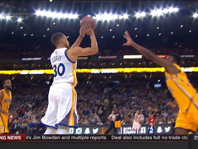 Här är en video av 35 gånger Stephen Curry slog ett skott från 28 + fötter den här säsongen