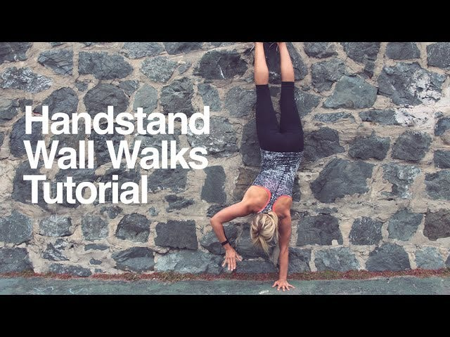 Work Up to Handstands With Wall Walks