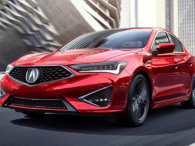Shockingly, there is a 2019 Acura ILX, and it's still the same old previous-generation Civic, but now it has a Superman grille