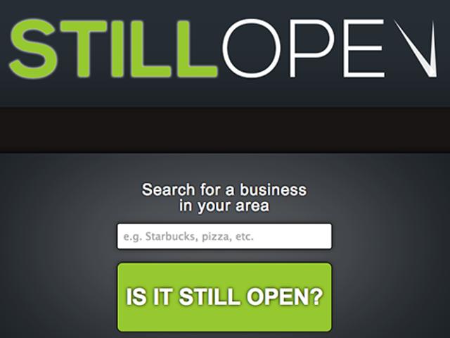 StillOpen prüft, ob Ihr Lieblingsgeschäft oder Restaurant noch geöffnet ist