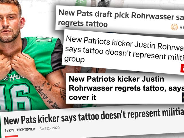 Media Coverage of Justin Rohrwasser's White Nationalist Tattoo Has Been Shameful