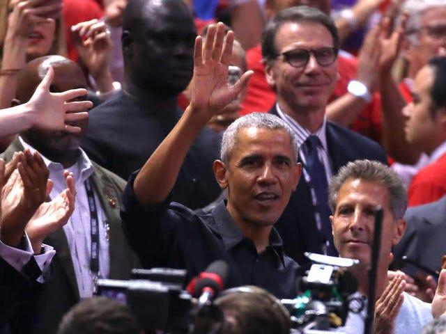 The Real 'MVP': Barack Obama Steals Drake's Thunder at Game 2 of the NBA Finals