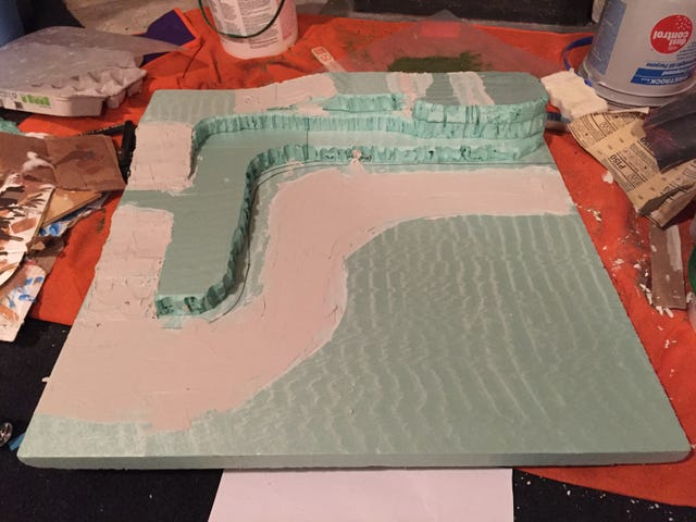 Rally Diorama: The  Paint & Spackle Phase