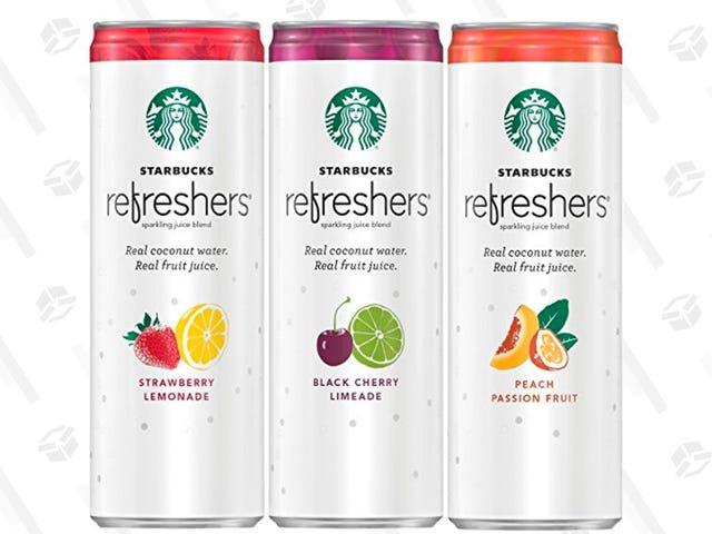 Gole para baixo 25% fora destes refrescores Sparkling do suco de Starbucks