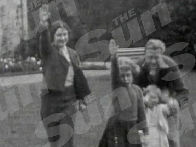 Film z 7-letniej królowej Elżbiety Nazist Salute jest Royal Shitshow