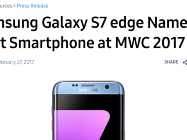 Samsung Proudly Declares Its One-Year-Old Phone Incredible [Updated]