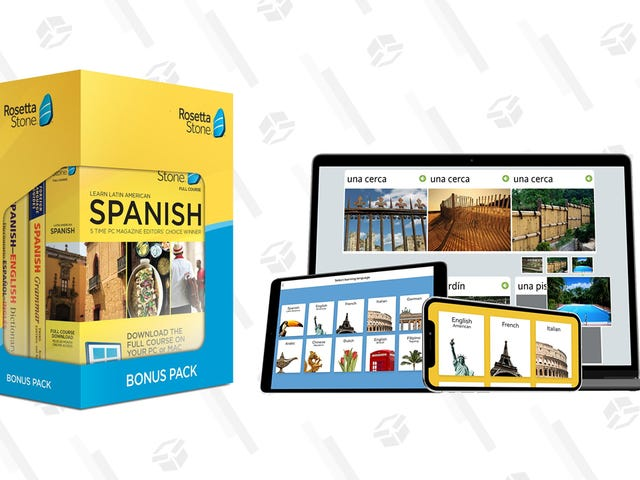 Today, You Finally Learn How to Speak Spanish Thanks to This Gold Box