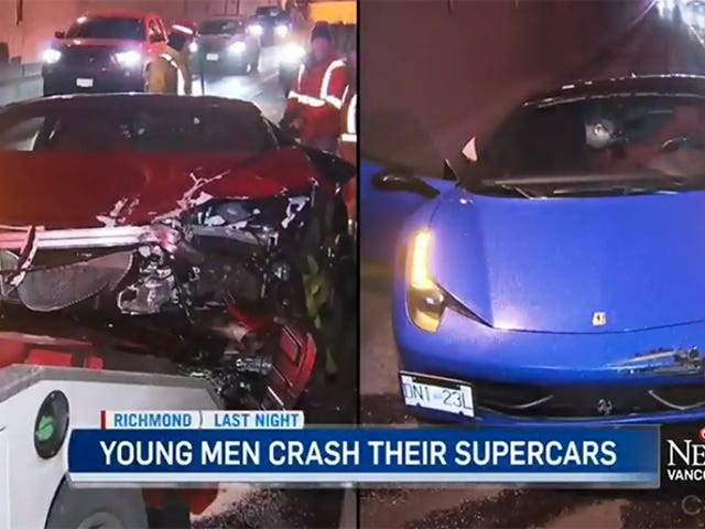 Lamborghini Plows Into Ferrari And We're Not Mad, Just Disappointed