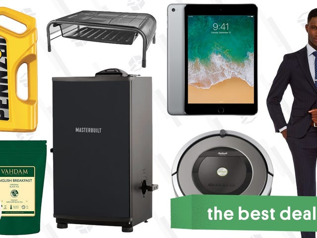 Thursday's Best Deals: Custom Suits, Electric Smoker, Affordable iPads, and More