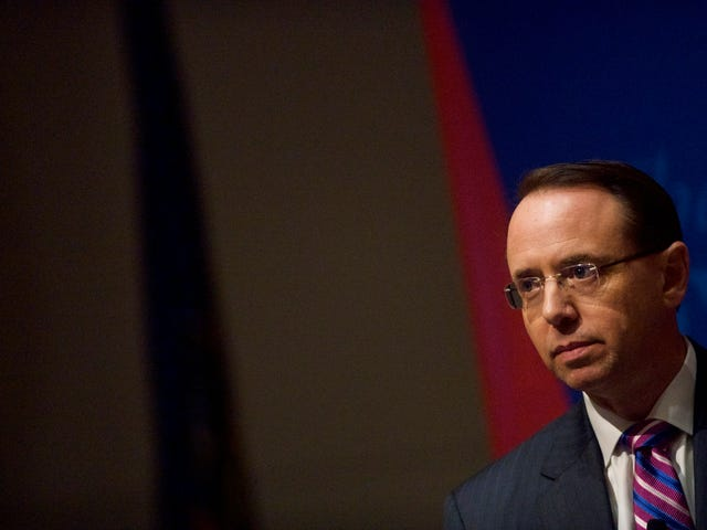 DOJ's No. 2, Rod Rosenstein, the Man Who Reportedly Said He Could 'Land the Plane' for Trump, Hands in His Resignation
