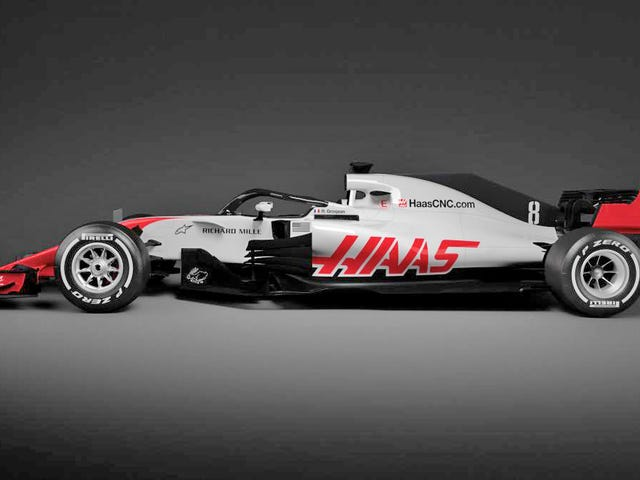 Haas는 첫번째 헤일로 F1 차를 보여 And습니다. 그리고 그것은 결국 나쁘지 않습니다.