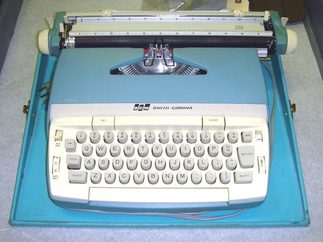 The Glorious History of the Typewriter