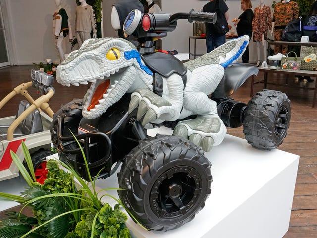 Seu filho pode agora viver minha fantasia Dino-Riding