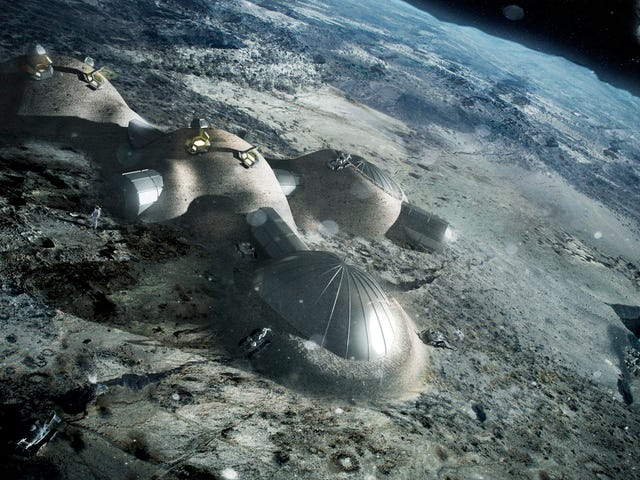 Lunar Colonists May Make Bricks From Moon Dust and Sunlight