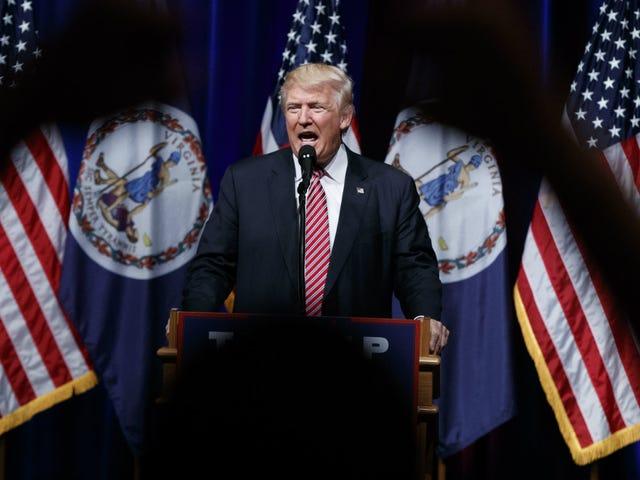 過去24時間で行われたThonal Donald Trumpの略語リスト