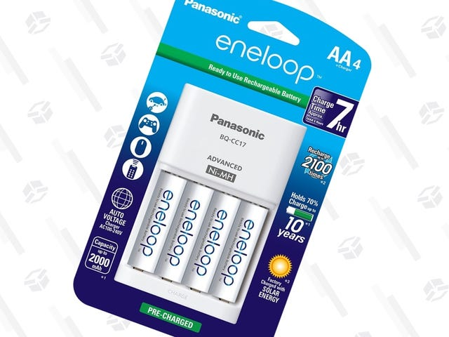 Add Four AAs and a Charger To Your Eneloop Collection For $16