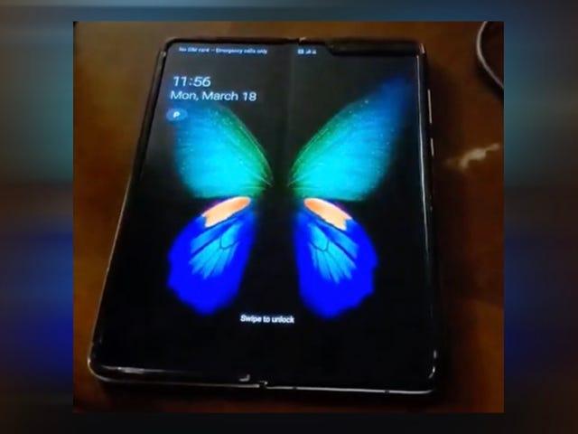 El primer vídeo no oficial del Galaxy Fold muestra cómo se ve normalmente el pliegue de la pantalla
