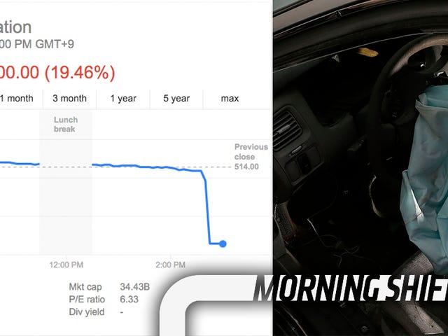 Cổ phiếu Takata thực hiện lặn mũi khổng lồ khi chi phí thu hồi túi khí được đặt ở 'trường hợp xấu nhất' $ 24 tỷ