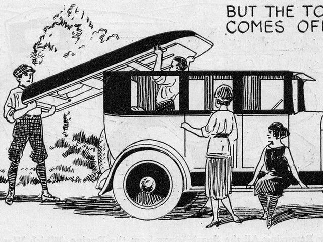 Chiếc xe độc đáo này từ năm 1923 biến thành một chiếc thuyền