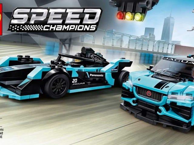 Du kan nu få et Lego Jaguar I-Pace eTROPHY og formel E sæt