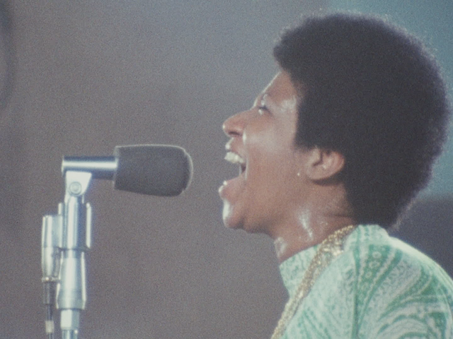 The moment Aretha Franklin steps on stage, Amazing Grace enters the concert film pantheon