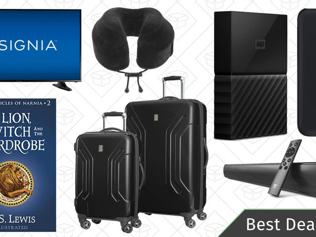 Saturday's Best Deals: Travel Accessories, World Backup Day Sales, C.S. Lewis Ebooks, and More