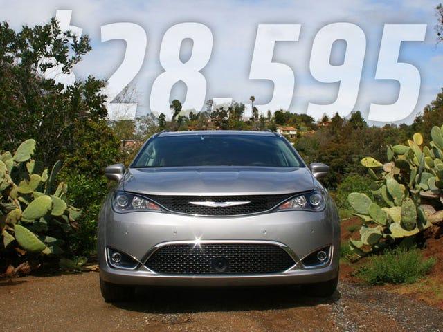 Chrysler Pacifica 2017 начнется с $ 28 595