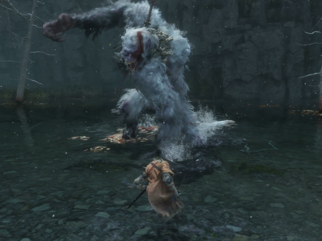 <i>Sekiro'</i>の最も賢い上司の戦いは巨大な、うんち投げる猿に対抗する