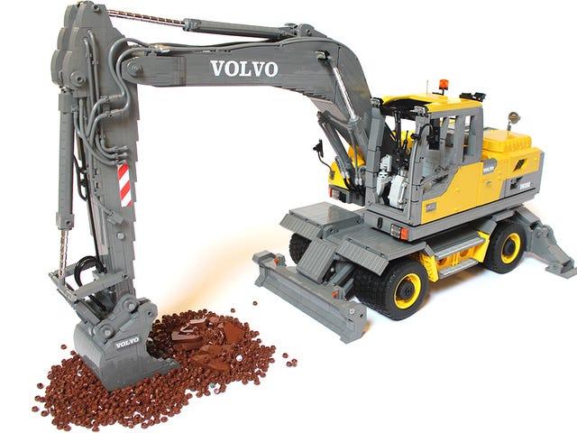 Penggali Lego Volvo begitu besar dan terperinci anda tidak boleh melihat kancing