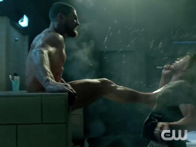 Oliver Queen's Butt Naked and Kicking Ass in the Latest Arrow Season 7 Trailer