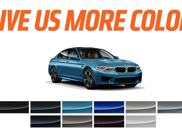 Here Are Some Much Cooler Colors For The 2018 BMW M5
