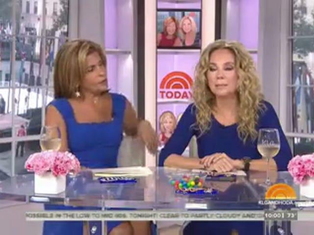 Hoda og Kathie Lee Send gode ønsker til deres 'gode ven' Billy Bush med en hvidvin Skål