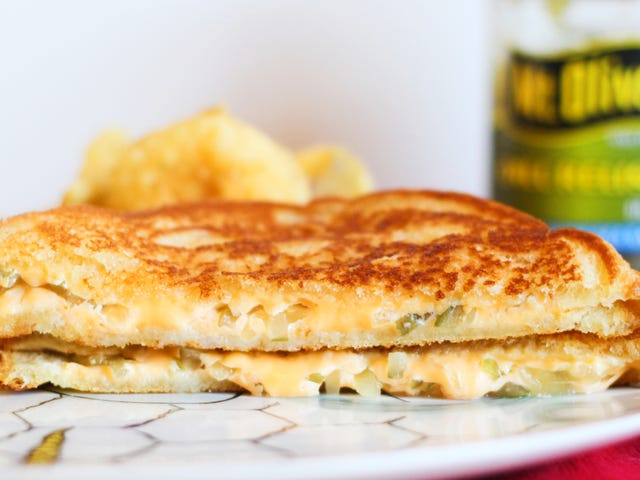 Putting Relish in a Grilled Cheese is a Very Good Idea