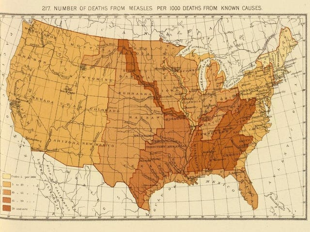 These 19th Century Maps Show Measles Death Rates Before Vaccines