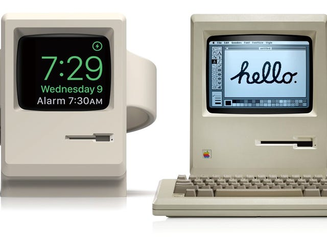 That Adorable Macintosh-Themed Apple Watch Charger Is Just $9 on Amazon
