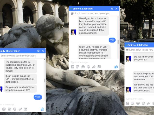Denne Facebook-botten vil hjelpe deg med å planlegge døden din