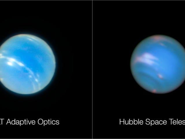 Una delle foto di Nettuno está hecha desde la superficie de la Tierra (y no es la que se ve borrosa)