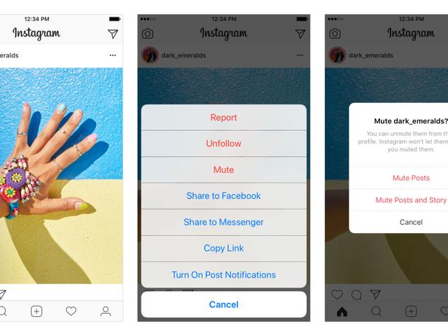 Instagram Jetzt können Sie Ihre Beiträge stummschalten, ein Geschenk für überall in Frenemie