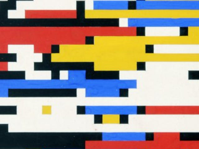 This Digital Mondrian Was Made in 1964