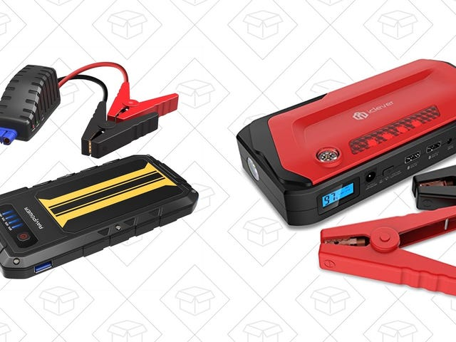 Take Your Pick of Two Discounted Car Jump Starters