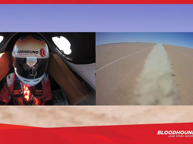 Åk ombord på Bloodhound For A Super Chill 334 MPH Practice Run
